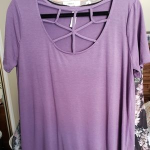 *NWOT* Purple caged front BLOUSE- never worn!